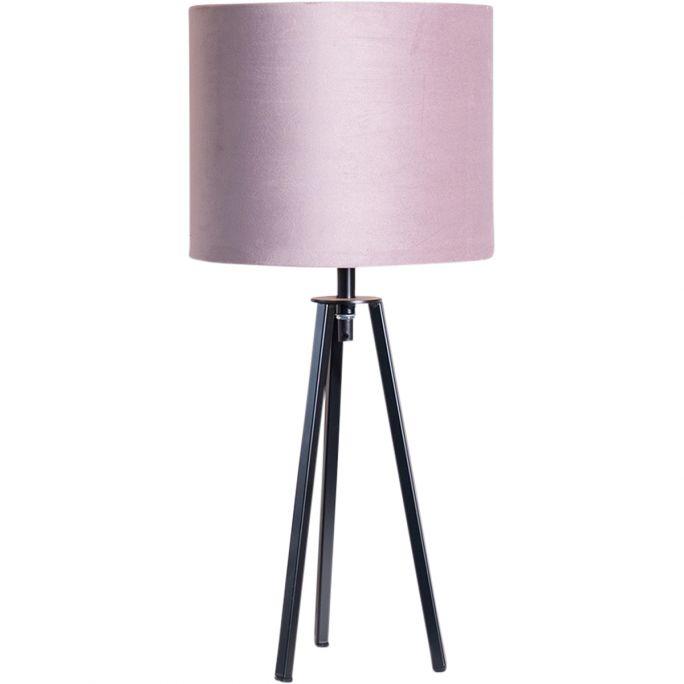 Tafellamp Lino incl. kap Ø25/h20 velvet Castle Rose Pink