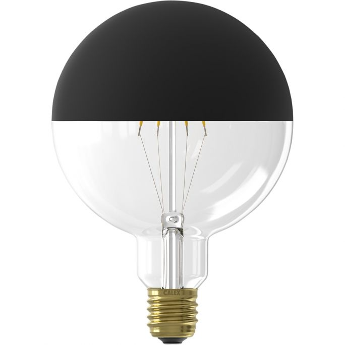 Filament Top Mirror LED Globe zwart