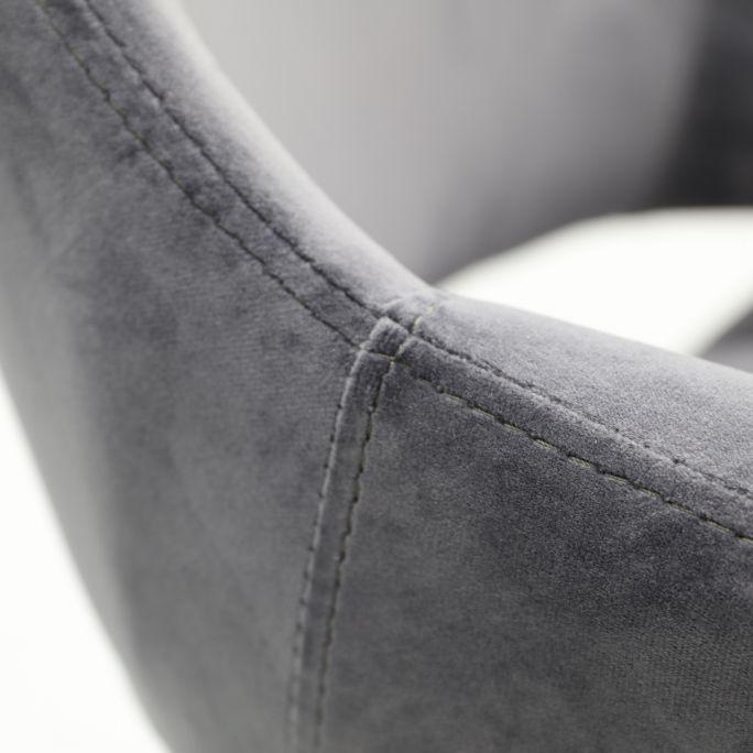 Eetkamerstoel Metz Dark Grey