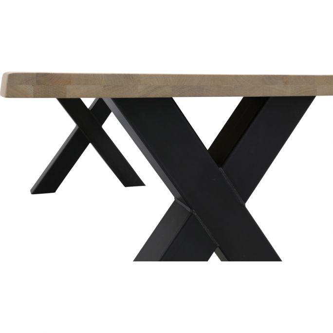 Eettafel Darby met metalen X-poot