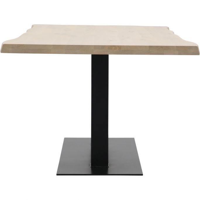 Eettafel Darby met metalen tafelvoet dubbel