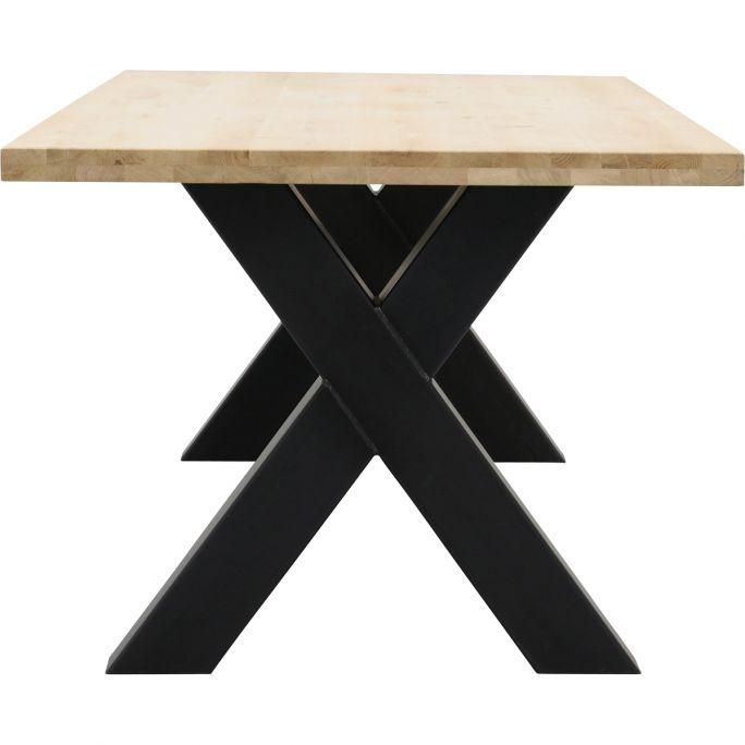 Eettafel Aspen met metalen X-poot