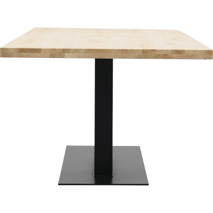 Eettafel Aspen met metalen tafelvoet dubbel