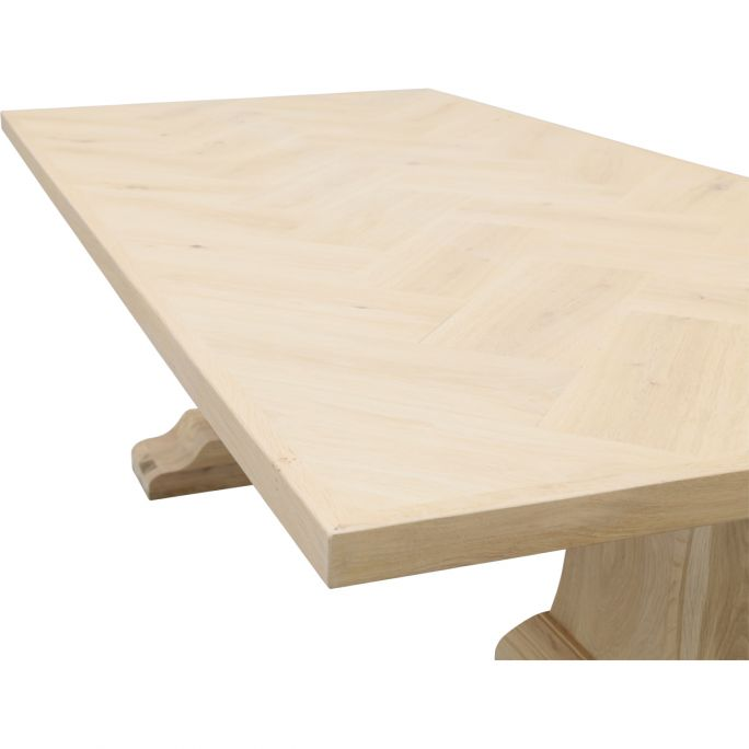 Eettafel Boston met eiken kolompoot