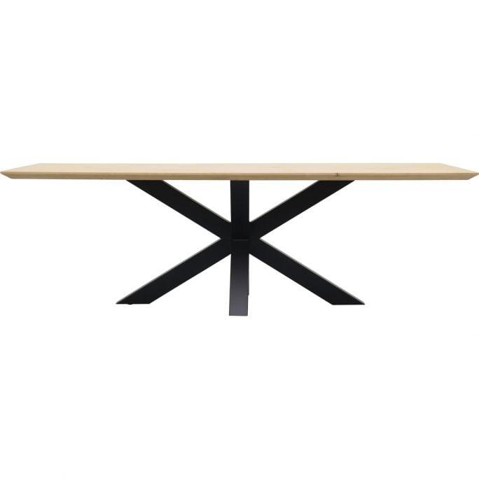 Eettafel Conroe met metalen spinpoot 10x10