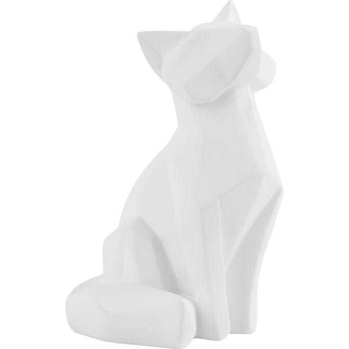 Decoratie Origami Fox wit