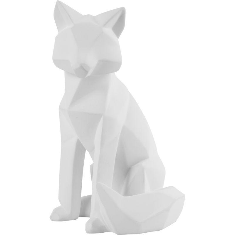 Decoratie Origami Fox wit large