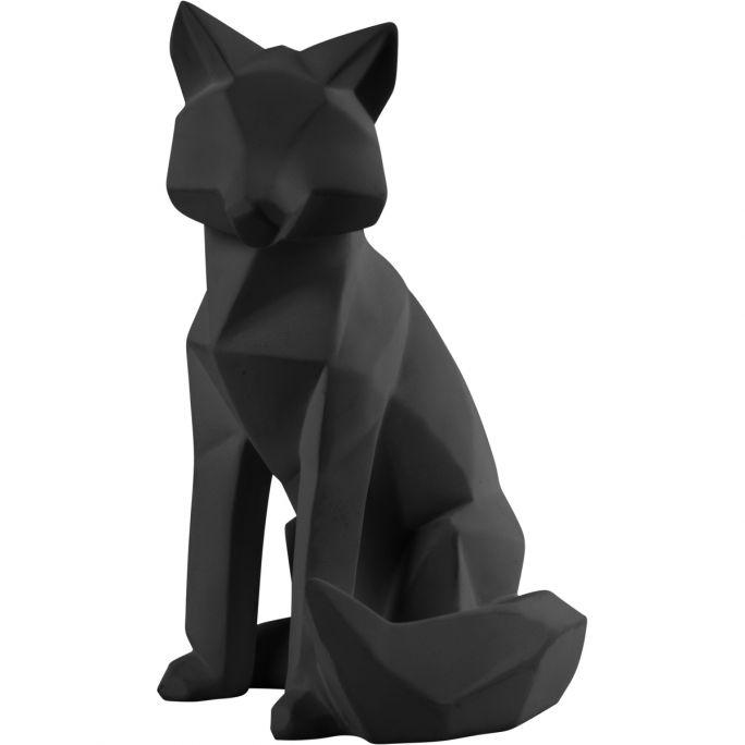 Decoratie Origami Fox zwart large