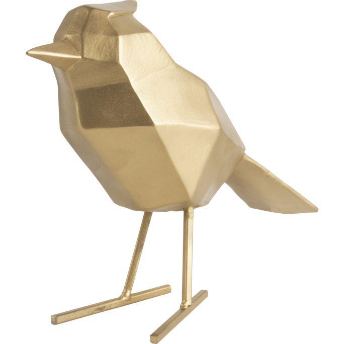 Decoratie Origami Bird goud large