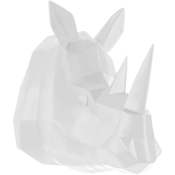 Wanddeco Origami neushoorn