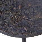 Oval Bijzettafels Antique Goud set van 2