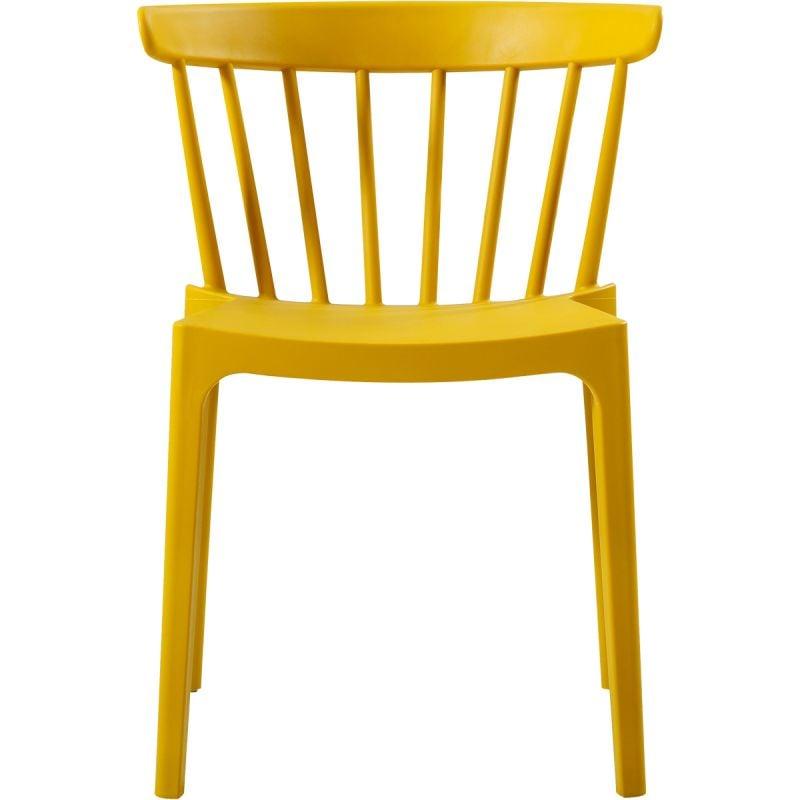 Spijlenstoel Bliss kunststof oker geel