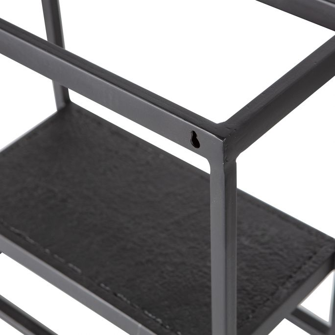 Febe Wandrek Vierkant Metaal Zwart