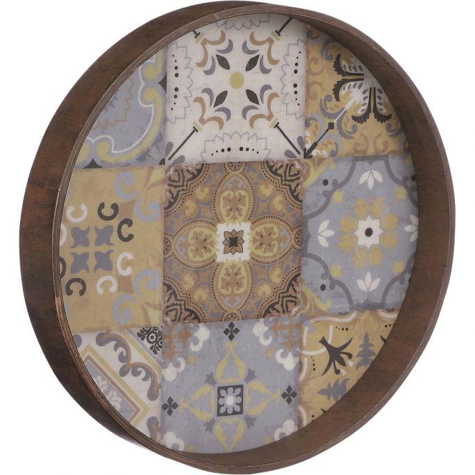 Wanddecoratie Moza bruin 30cm
