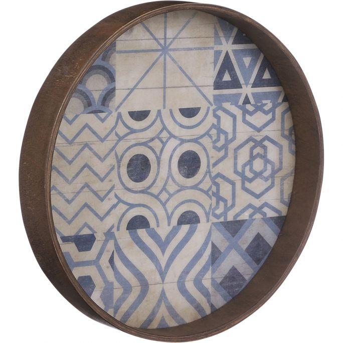 Wanddecoratie Moza blauw 30cm