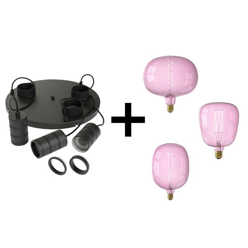Hanglamp Quartz pink