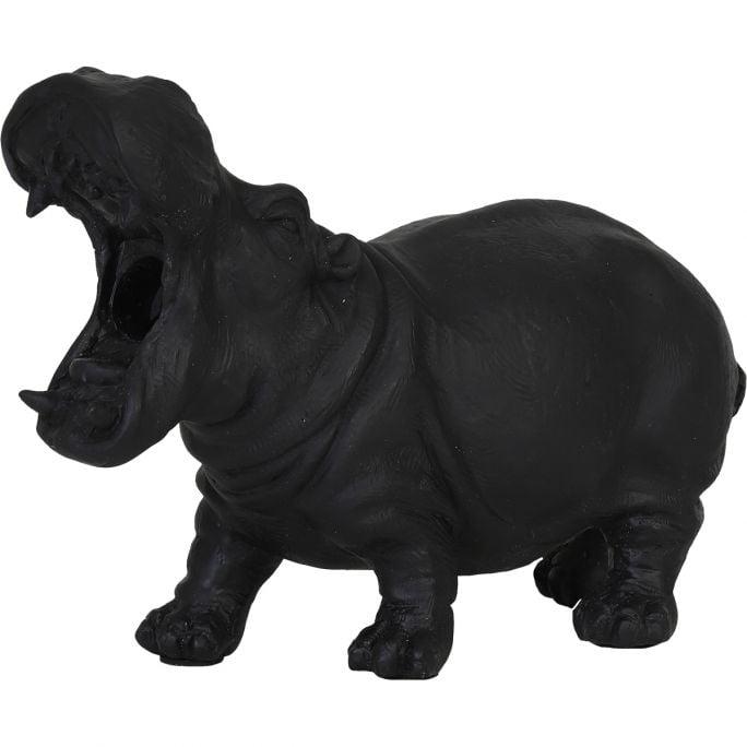 Tafellamp Nijlpaard zwart