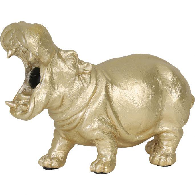 Tafellamp Nijlpaard goud