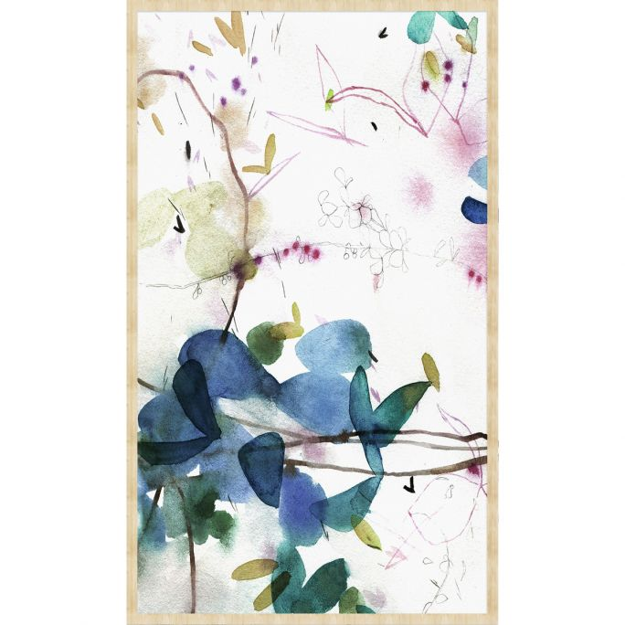 Wanddecoratie Art Crafts 002 70x118cm op forex met blanke lijst bohemian