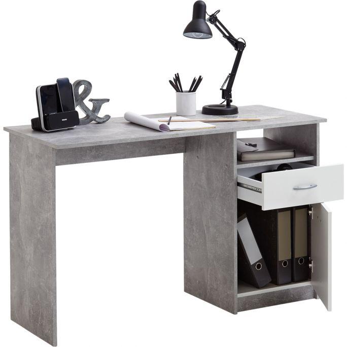 Bureau Jackson Beton/Wit