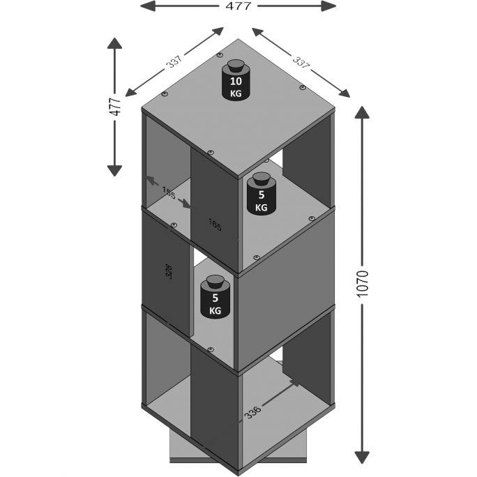 Draaibare kast Tower Beton