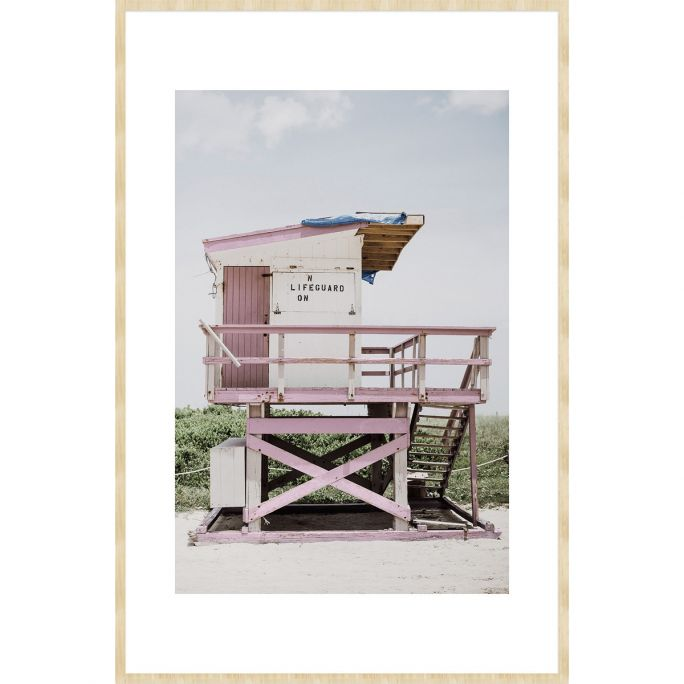 Wanddecoratie Summer Time 012B 98x148cm op forex met blanke lijst scandinavisch passe partout