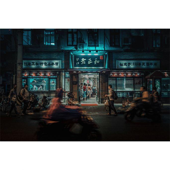 Wanddecoratie City Life 008 148x98cm
