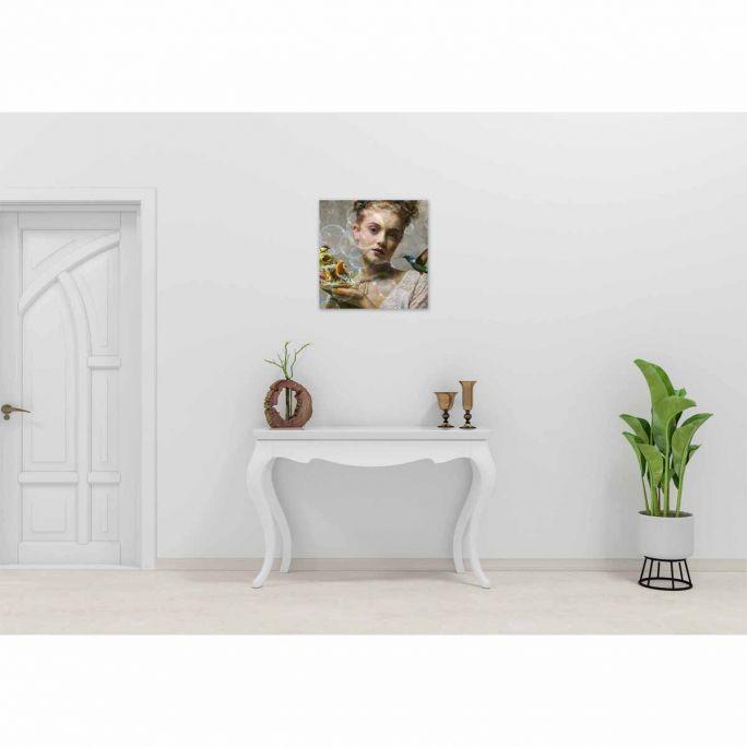 Wanddecoratie Faces 034 74x74cm