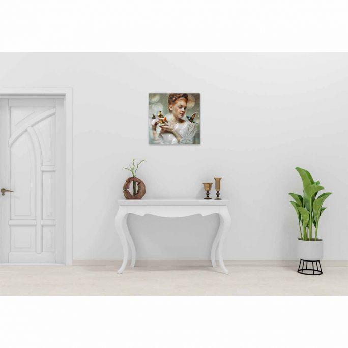 Wanddecoratie Faces 035 74x74cm