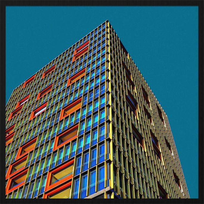 Wanddecoratie Rhythm of the City 005 74x74cm