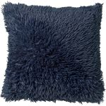Kussen Fluffy 45x45 donkerblauw