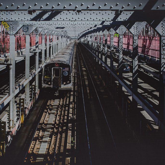 Wanddecoratie Rhythm of the City 009 74x74cm