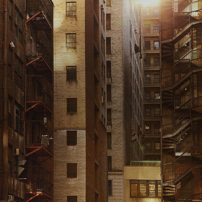 Wanddecoratie Rhythm of the City 011 74x74cm