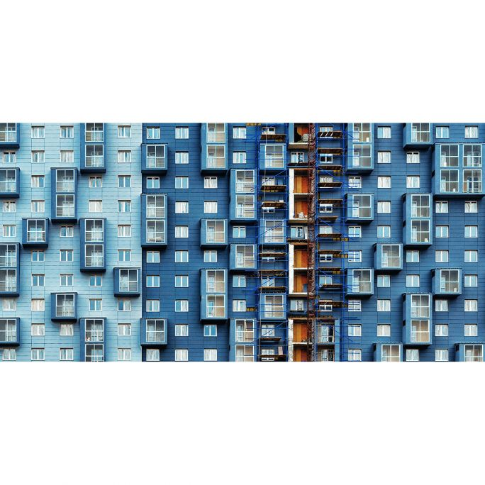 Wanddecoratie Rhythm of the City 016 98x48cm