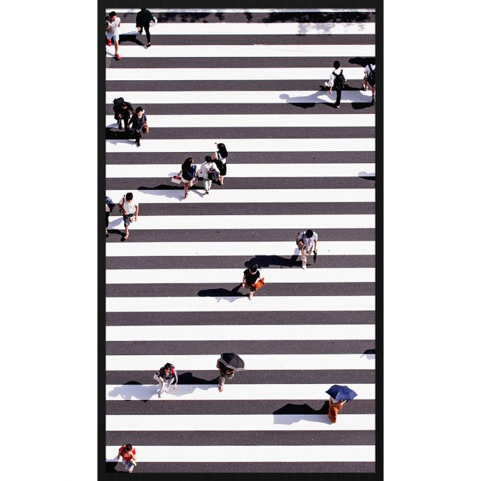 Wanddecoratie Rhythm of the City 025 70x118cm