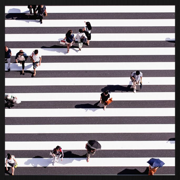 Wanddecoratie Rhythm of the City 025 74x74cm