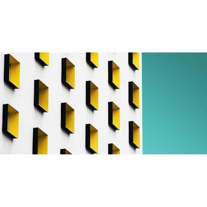 Wanddecoratie Rhythm of the City 027 98x48cm