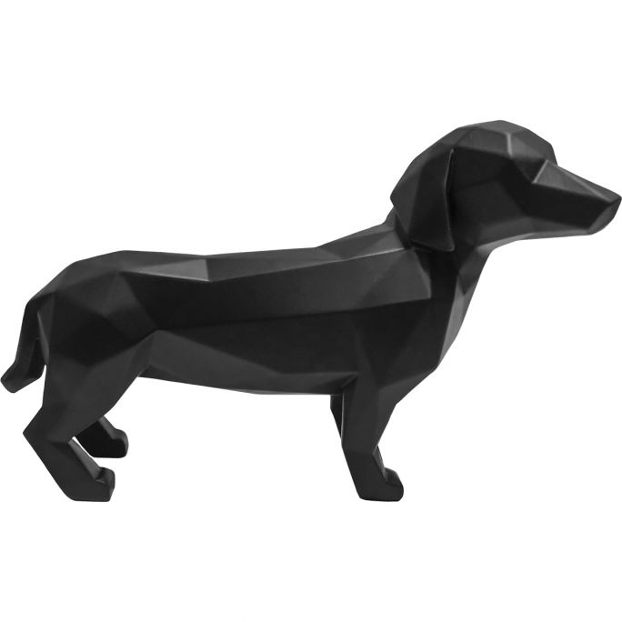 Decoratie Origami Hond zwart