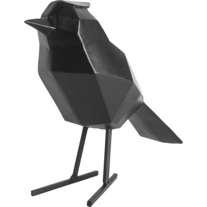 Decoratie Origami Vogel zwart large