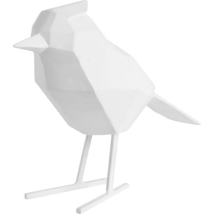Decoratie Origami Vogel wit large