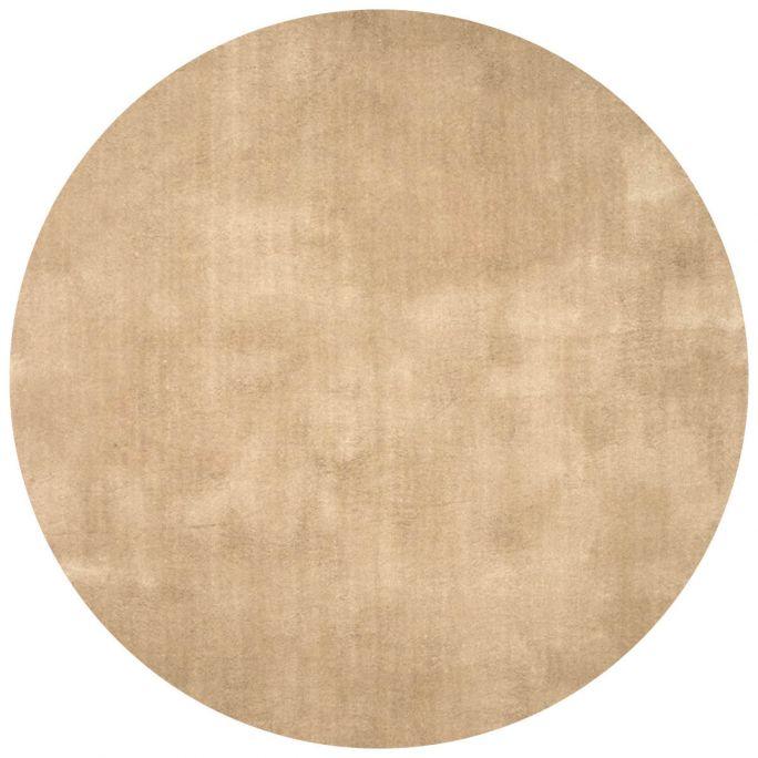 Vloerkleed Cowan rond beige 12