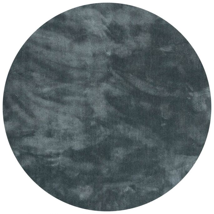 Vloerkleed Cowan rond blauw 32