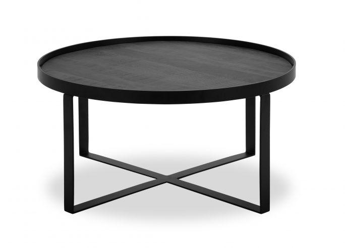 Salontafel Hampton rond 80cm X poot black