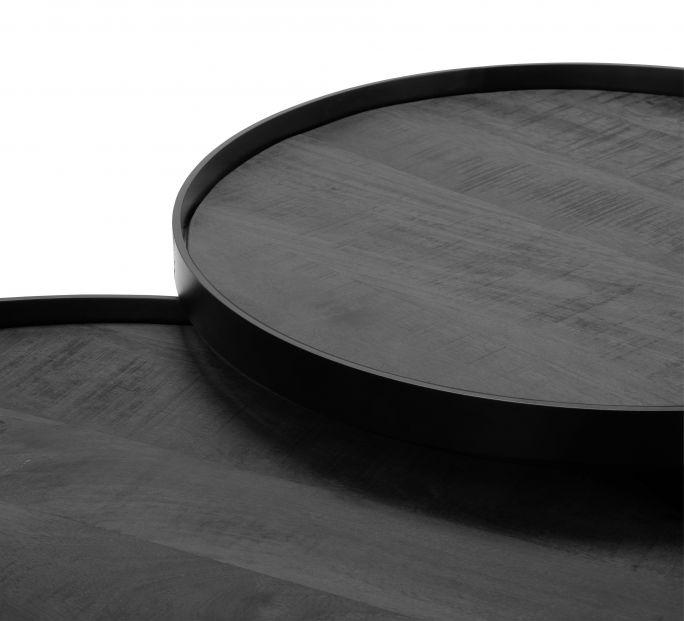 Salontafel Hampton set van 2 rond black