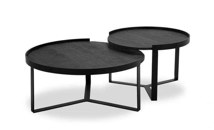 Salontafel Hampton Plus set van 2 rond black