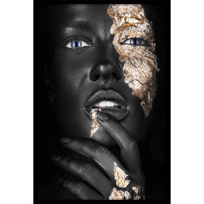 Wanddecoratie Noir Goldest 120x180cmmet zwarte baklijst