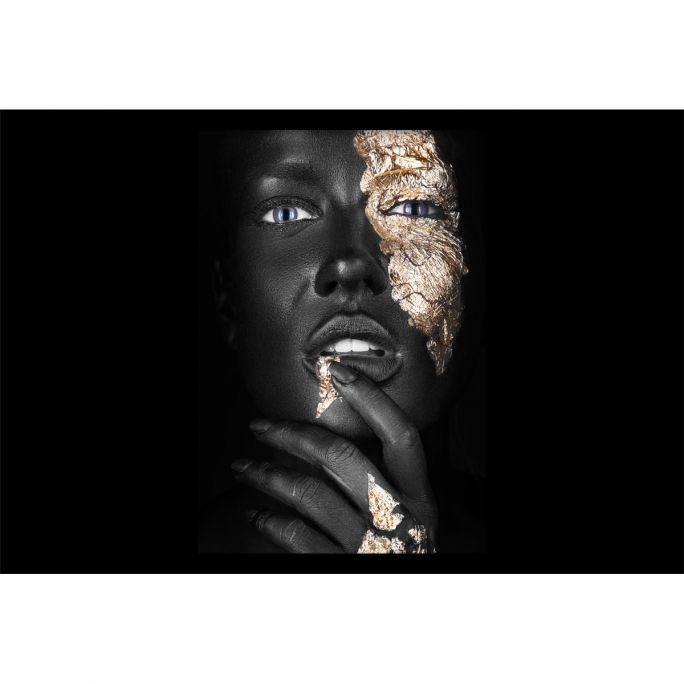 Wanddecoratie Noir Goldest 120x80cmmet zwarte baklijst