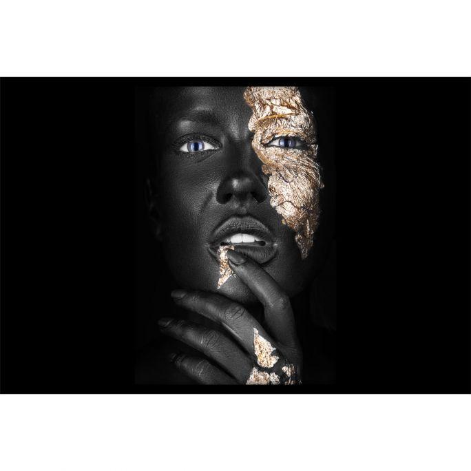 Wanddecoratie Noir Goldest 180x120cmmet zwarte baklijst