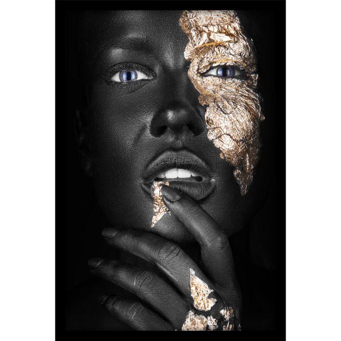 Wanddecoratie Noir Goldest 80x120cmmet zwarte baklijst