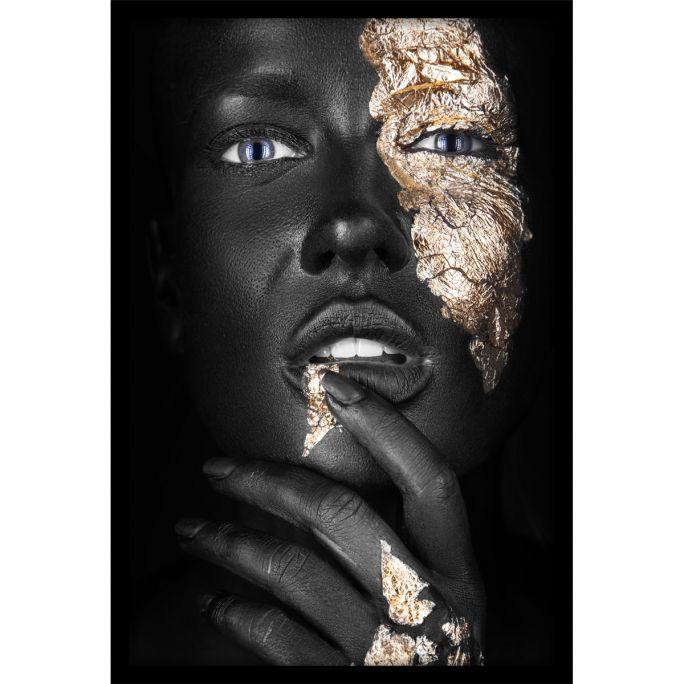 Wanddecoratie Noir Goldest 90x135cmmet zwarte baklijst